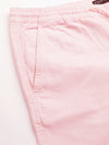 Men's Cotton Lycra Pink Regular Fit Shorts Cottonworld Men's Shorts