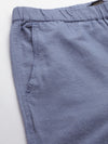 Men's Linen Cotton Blue Regular Fit Pants Cottonworld Men's Pants