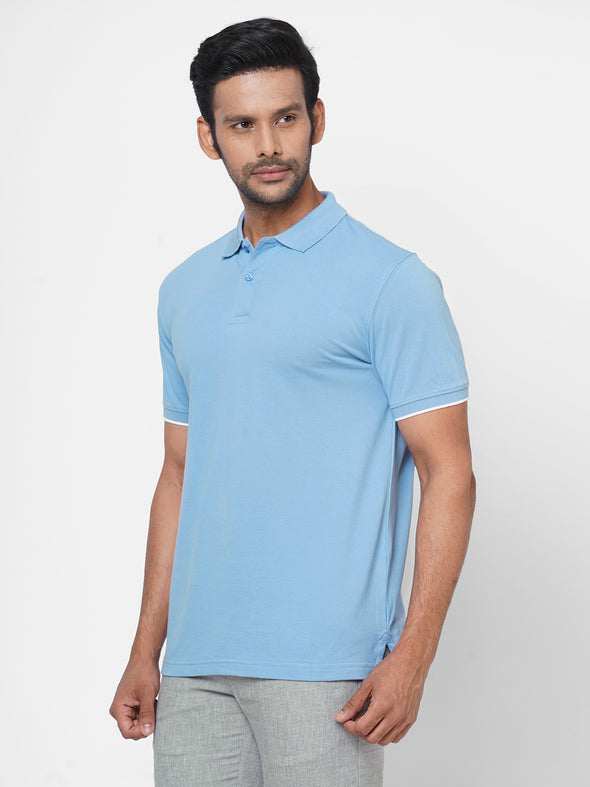 Men's Cotton  Sky Regular Fit Tshirt
