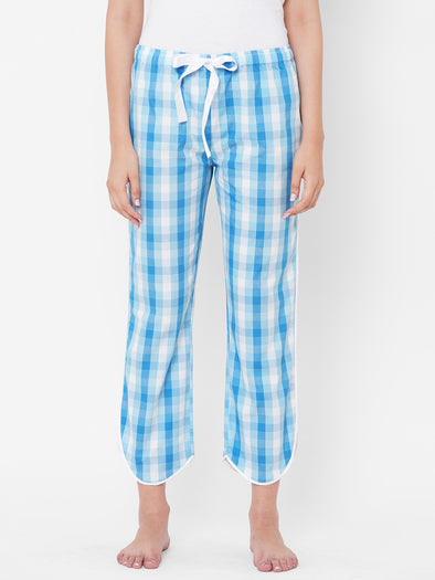 Women's Cotton   Blue Regular Fit Pajama