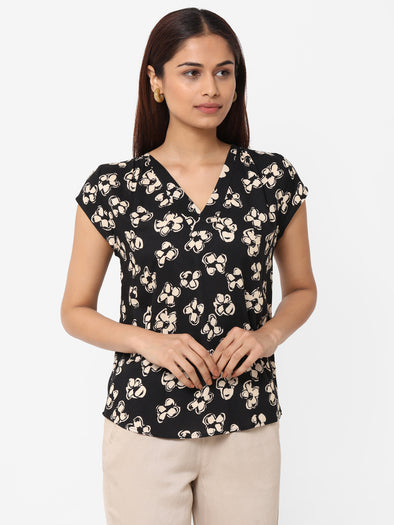 Women's Viscose  Black Regular Fit Blouse
