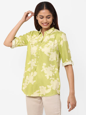 Women's Viscose  Green Regular Fit Blouse