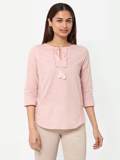 Women's Cotton  Rose Regular Fit Blouse