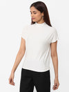 Women's Viscose Polyster Elastane Rfd Regular Fit Tshirt