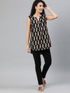 Women's Rayon Black Regular Fit Blouse Cottonworld Women's Blouse