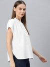 Women's Cotton White Regular Fit Blouse Cottonworld Women's Blouse