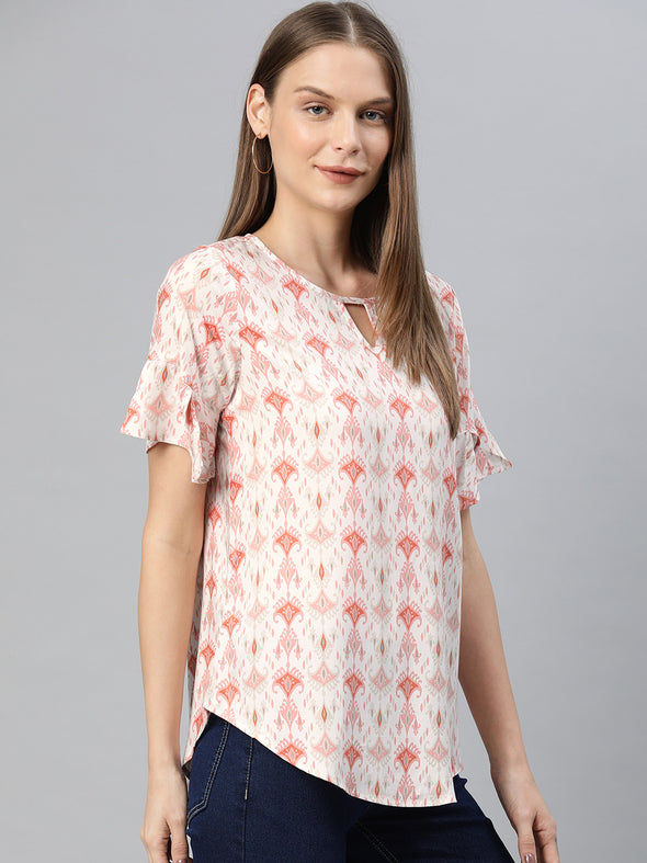 Women's Rayon Pink Regular Fit Blouse Cottonworld Women's Blouse