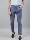 Men's Cotton Linen Blue Slim Fit Pants Cottonworld Men's Pants
