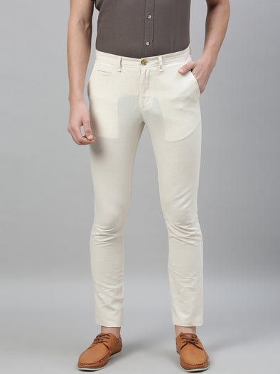 Men's Linen Cotton Natural Slim Fit Pants Cottonworld Men's Pants