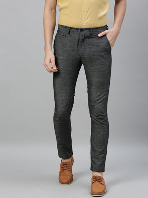 Men's Linen Cotton Slate Slim Fit Pants Cottonworld Men's Pants