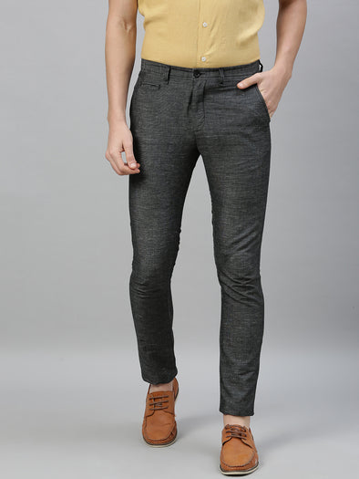 Men's Linen Cotton Slate Slim Fit Pants