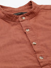 Men's Cotton Rust Regular Fit Shirts Cottonworld Men's Shirts