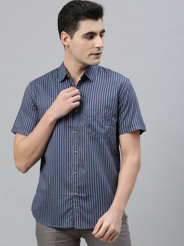 Men's Cotton Blue Regular Fit Shirts
