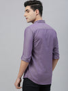Men's Cotton Purple Slim Fit Textured Shirt Cottonworld Men's Shirts