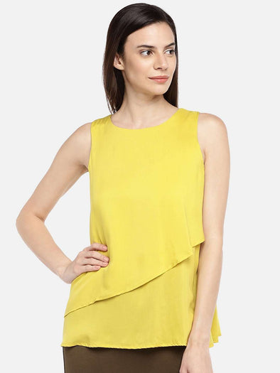 Women's Modal Lime Regular Fit Blouse Cottonworld Women's Tops