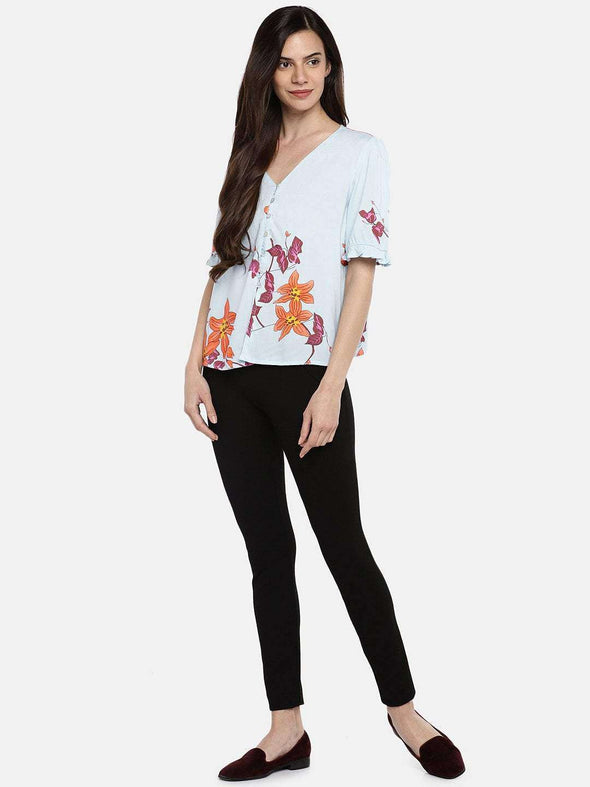 Women's Rayon Multi Regular Fit Blouse Cottonworld Women's Tops