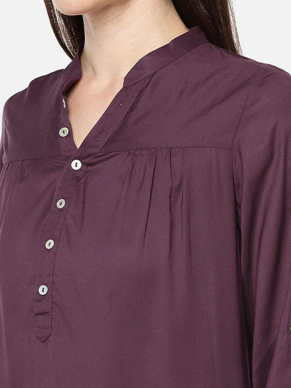 Women's Modal Wine Blouse Cottonworld Women's Tops
