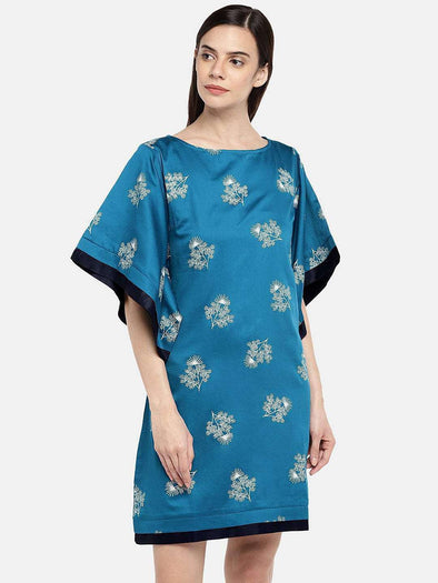Women's Cotton Blue Regular Fit Dress Cottonworld Women's Dresses