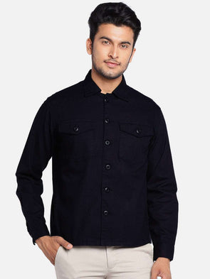 Men's Cotton Navy Regular Fit Jackets Cottonworld Men's Jackets