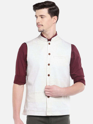 9376991e71 Cottonworld Men s Jackets MEN S NATURAL COTTON LINEN NEHRU JACKET