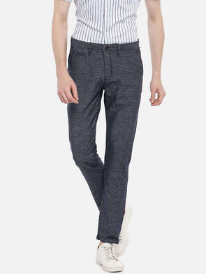 Men's Cotton Linen Indigo Slim Fit Pants Cottonworld Men's Pants