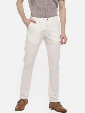 Men's Cotton Linen Natural Slim Fit Pants Cottonworld Men's Pants