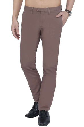 Men Brown Regular Pant Cottonworld Men's Pants