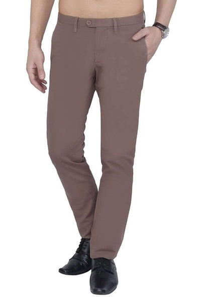 Cottonworld Men's Pants Men Brown Regular Pant