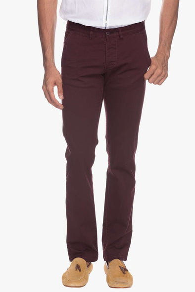 Men Maroon Pants Cottonworld Men's Pants