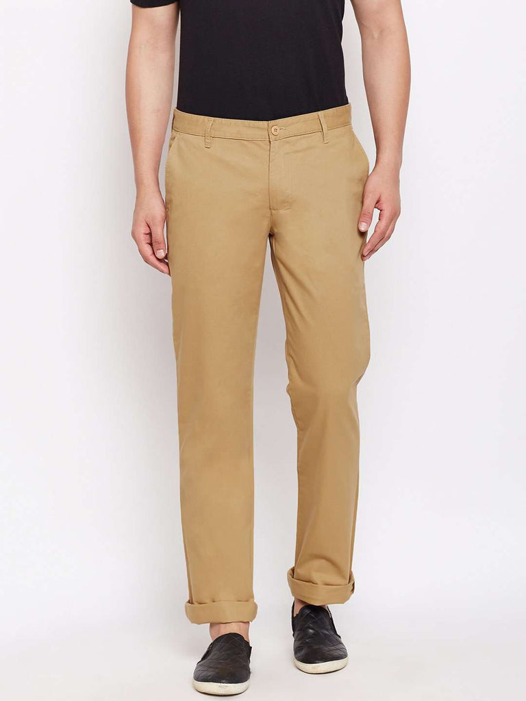 Cottonworld Men's Pants MEN'S 100% COTTON BISCUIT REGULAR FIT PANTS