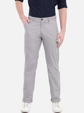 Cottonworld Men's Pants MEN'S 100% COTTON GREY SLIM FIT PANTS