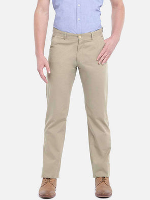 Cottonworld Men's Pants MEN'S 100% COTTON KHAKI SLIM FIT PANTS