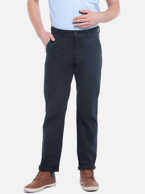 Cottonworld Men's Pants MEN'S 100% COTTON NAVY SLIM FIT PANTS