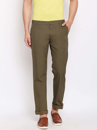Cottonworld Men's Pants MEN'S 100% COTTON OLIVE PANTS