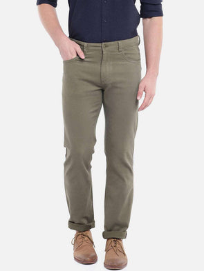 Cottonworld Men's Pants MEN'S 97% COTTON 3% LYCRA DUGOUT SLIM FIT PANTS