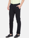Men's Cotton Lycra Black Slim Fit Pants Cottonworld Men's Pants
