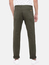 Men's Cotton Lycra Olive Regular Fit Pants Cottonworld Men's Pants