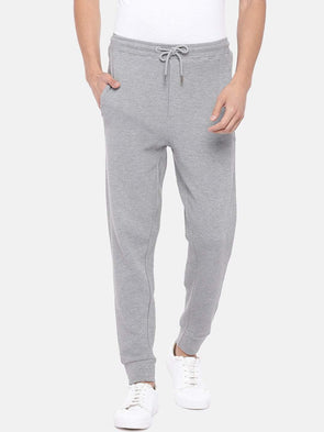 Men's Cotton Polyster Grey Melan Regular Fit Kpants Cottonworld Men's Pants