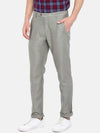 Men's Linen Cotton Olive Slim Fit Pants Cottonworld Men's Pants