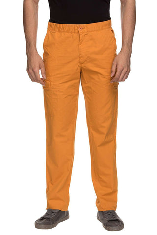 Cottonworld Men's Pants MENS 100% COTTON  RUST SOLID PANTS