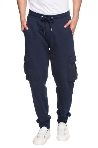 Cottonworld Men's Pants MENS SOLID NAVY COTTON KPANTS