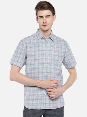 Men's Cotton Aqua Regular Fit Shirts Cottonworld Men's Shirts