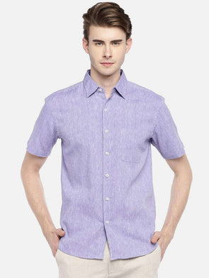 22030a3116 Cottonworld Men s Shirts 38 CM-SMALL   PURPLE MEN S 60% LINEN 40% COTTON