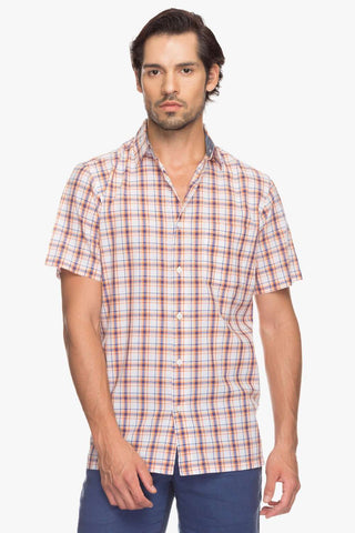 Cottonworld Men's Shirts Men Orange Regular Solid Woven Shirts