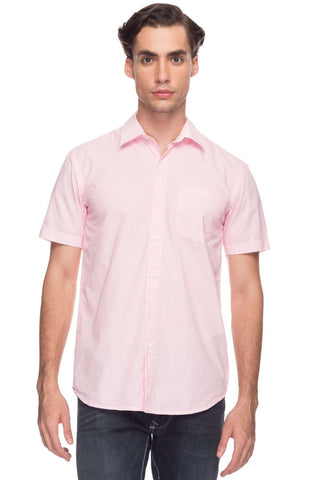Cottonworld Men's Shirts Men Pink Tailored Printed Woven Shirts