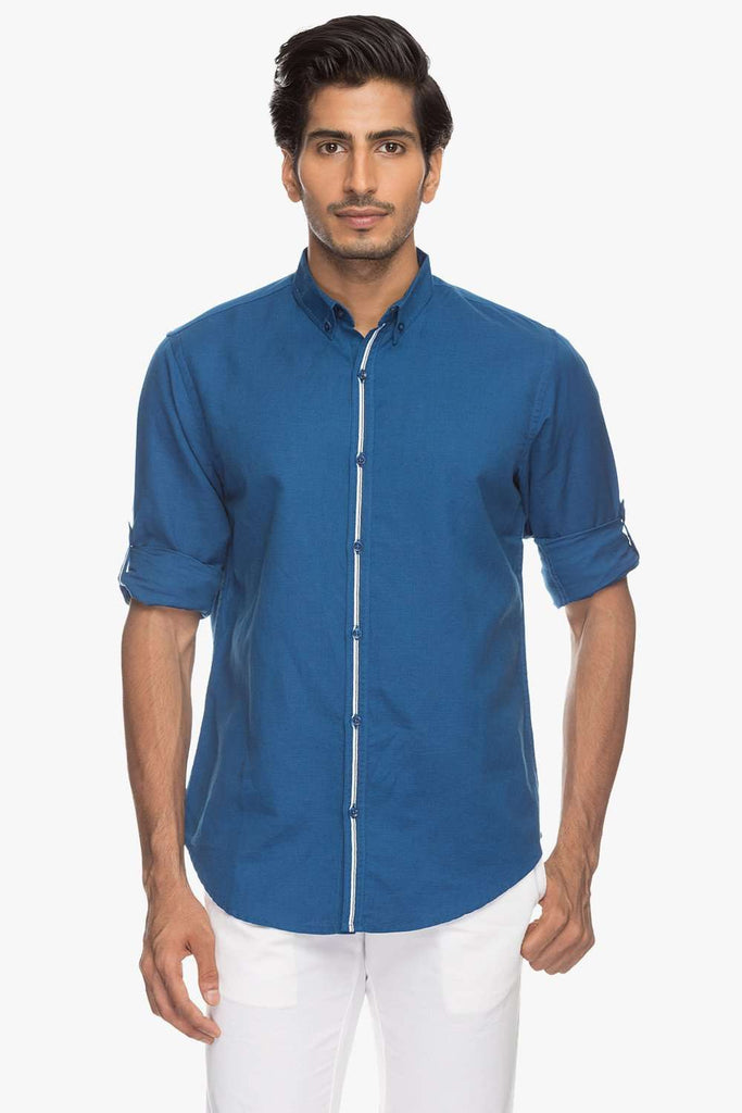 Cottonworld Men's Shirts Men Royal shirt
