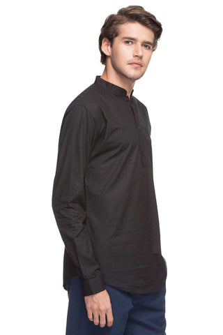 Cottonworld Men's Shirts MEN'S 100% COTTON BLACK REGULAR FIT SHIRTS-10521-16164-BLACK