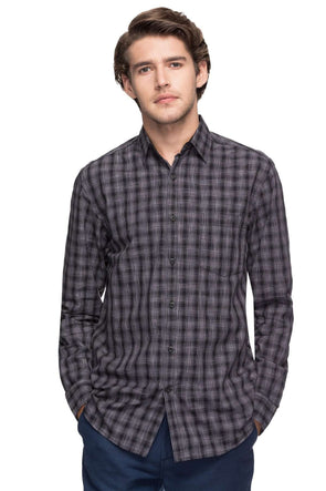 Cottonworld Men's Shirts MEN'S 100% COTTON BLACK REGULAR FIT SHIRTS-13484-17487-BLACK