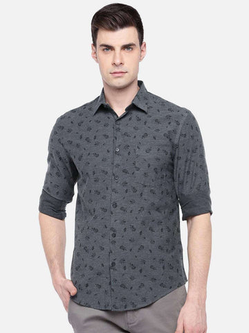 Cottonworld Men's Shirts MEN'S 100% COTTON BLACK REGULAR FIT SHIRTS