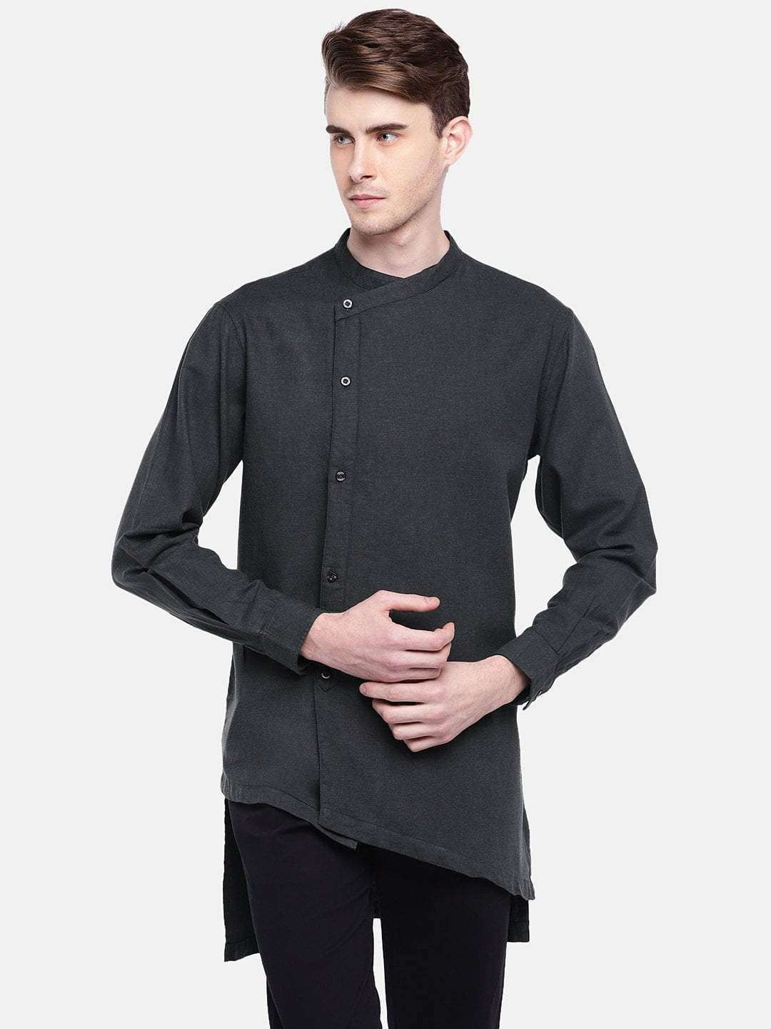 ebadbf7a1fb Men s Cotton Black Regular Fit Kurta